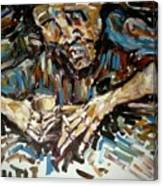 Drunk Inspired By Egon Schiele Canvas Print