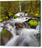Dry Creek Falls In Spring Canvas Print