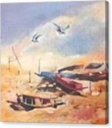 Dry Shore Canvas Print