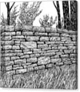 Dry Stone Wall Canvas Print
