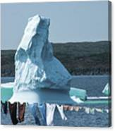 Drying Clothes In Ice Berg Alley Canvas Print