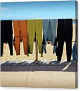 Drying Wet Suits Canvas Print