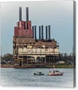 Dte Power Plant  Canvas Print