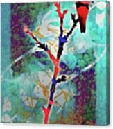 Dual Roses Canvas Print