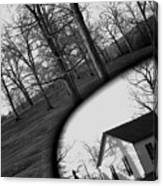 Duality - A Black And White Photograph Symbolically Representing The Gravity Of Choice  Canvas Print