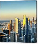 Dubai Towers At Sunset. Canvas Print