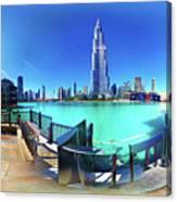 Dubai Burj Khalifa Panorama Canvas Print