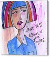 Dubious Jane Canvas Print