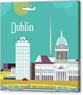 Dublin Ireland Vertical Scene Canvas Print