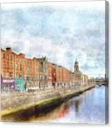 Dublin Watercolour Canvas Print