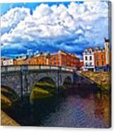 Dublin's Fairytales Around Grattan Bridge 2 Canvas Print