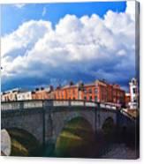 Dublin's Fairytales Around Grattan Bridge V2 Canvas Print