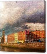 Dublin's Fairytales Around  River Liffey 2 Canvas Print