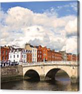 Dublin's Fairytales Around  River Liffey 3 Canvas Print