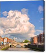 Dublin's Fairytales Around  River Liffey Canvas Print