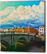 Dublin's Fairytales Around  River Liffey V4 Canvas Print