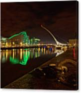 Dublin's Samuel Beckett Bridge At Night Canvas Print