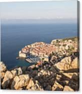 Dubrovnik And The Adriatic Coast In Croatia Canvas Print