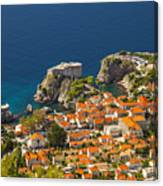 Dubrovnik Fortress From Above Canvas Print