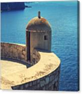 Dubrovnik Fortress Wall Tower Canvas Print