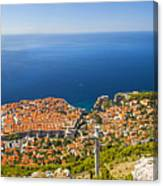 Dubrovnik From Above Panorama Canvas Print