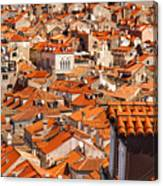 Dubrovnik Orange Old Town Rooftops Canvas Print
