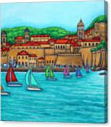 Dubrovnik Regatta Canvas Print
