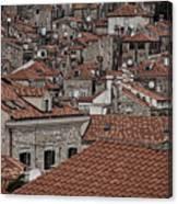 Dubrovnik Rooftops #3 Canvas Print