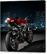 Ducati By Moonlight Canvas Print