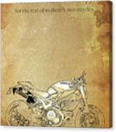 Ducati Motorcycle Quote Canvas Print