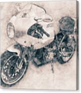 Ducati Paulsmart 1000 Le - 2006 - Motorcycle Poster - Automotive Art Canvas Print
