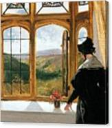 Duchess Of Abercorn Looking Out Of A Window Canvas Print