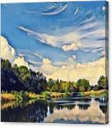 Reflections At Duck Creek Canvas Print