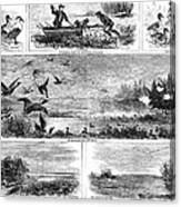 Duck Hunting, 1868 Canvas Print