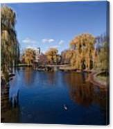 Duck Pond Public Gardens Boston Massachusetts Canvas Print