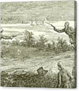 Duel Between Alexander Hamilton And Aaron Burr Canvas Print