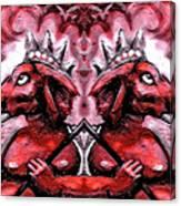 Duel Ganesh Canvas Print