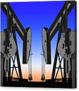 Dueling Oil Well Pumps Canvas Print