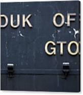 Duk Of Gton Canvas Print
