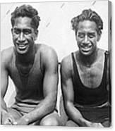 Duke And Sam Kahanamoku Canvas Print