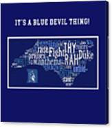 Duke University Blue And White Products Canvas Print