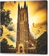 Duke University Chapel At Dusk Canvas Print