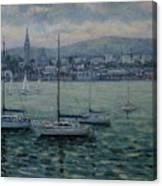 Dun Laoghaire Harbour Dublin Canvas Print