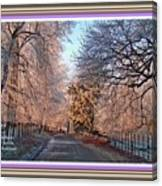 Dundalk Avenue In Winter. L A With Alt. Decorative Printed Frame. Canvas Print