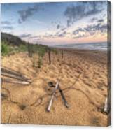 Dune Fencing Down Canvas Print