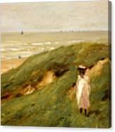 Dune Near Noordwijk With Child Canvas Print