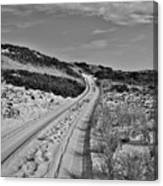 Dune Path In Black And White Canvas Print