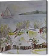 Dunes In Corsica Canvas Print