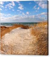Dunes In Winter Canvas Print