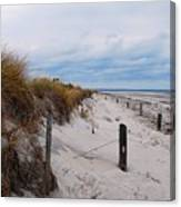 Dunes On A Blustery Day Canvas Print